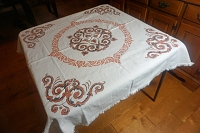 Asian Theme Tablecloth with 6 Napkins