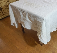 Cross Stitch Linen Tablecloth 80x66