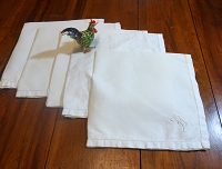 Monogram B Linen Napkins, Set of 5