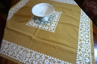 Woven Gold Table Topper 36x36