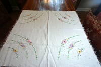 Floral Rainbow Table Topper 30x30