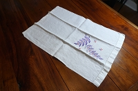 Finger Towel - Purple Leaves