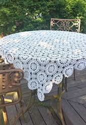 Crochet Tablecloth 48x48