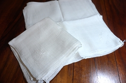 Set of 10 Linen Luncheon Napkins