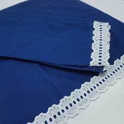 1970s Navy Napkins with Ruffled Edges