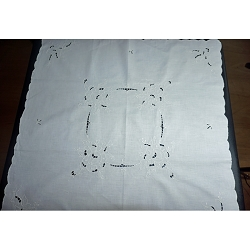 Cutwork Embroidery Table Topper 31x31