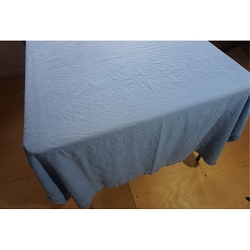 Tailored Blue Linen Tablecloth 68x50 with Napkins