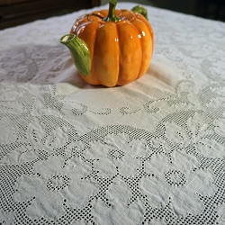 Ivory Tablecloth 52x50