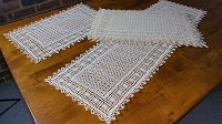 6 Crocheted Placemats plus Table Runner