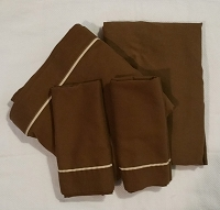 Vintage 1960's Set of Full Sheets, Brown