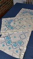 Set of 2 Embroidered Table Runners