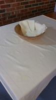Small Buttercream Tablecloth with Napkins