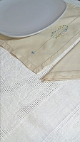 Ecru Embroidered Placemat Set