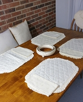 Eyelet Placemats w/Napkins, Set of 8