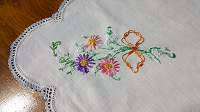 Daisy Bouquet Table Runner or Scarf