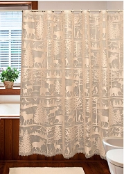 Lodge Lace Shower Curtain
