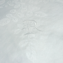 4 Damask Dinner Napkins - Monogram R