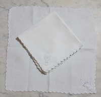 Embroidered Bridal Basket Lunch Napkins