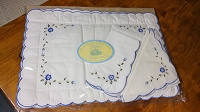 Embroidered Placemats with Napkins, set of 2