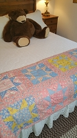 Small Blue, Pink & Yellow Quilt