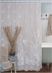 Sea View Lace Shower Curtain