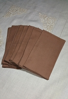 Set of 8 Brown Dinner Napkins