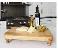 Wood Serving Board on Feet