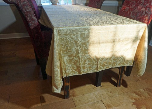 Gold Damask Tablecloth 58x80