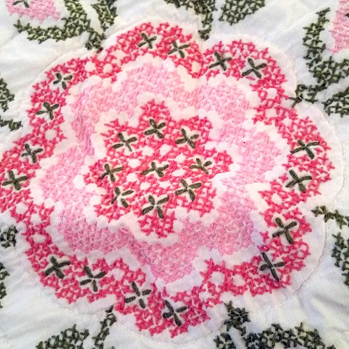Cross Stitch Quilt Set