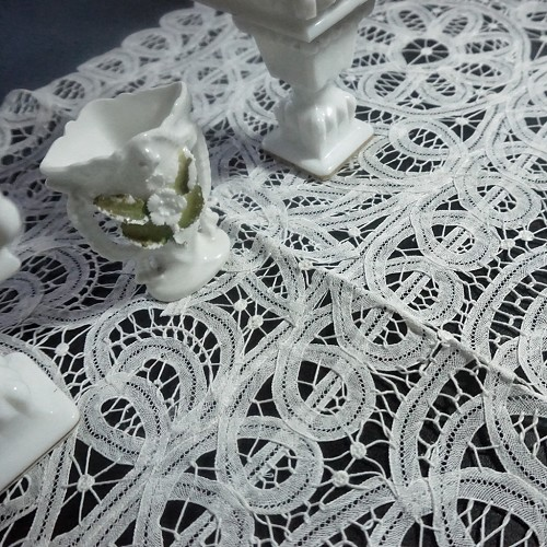 White Lace Scarf or Runner