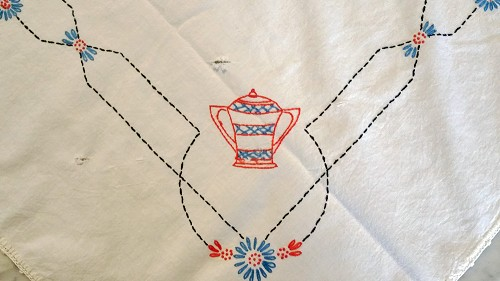 Vintage Coffee Theme Card Table Tablecloth