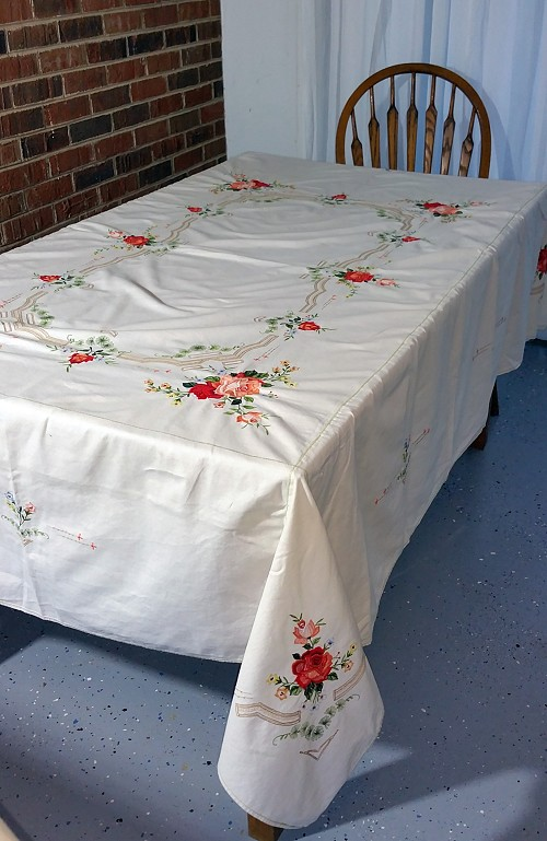 Fabulous Floral Tablecloth