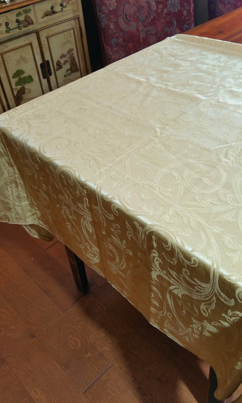Satin Gold Tablecloth 58x80